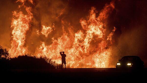 """Лесной пожар """"Томас"""" на юге штата Калифорния, США - Sputnik Азербайджан"""