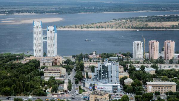 Волгоград, вид на Волгу  - Sputnik Азербайджан