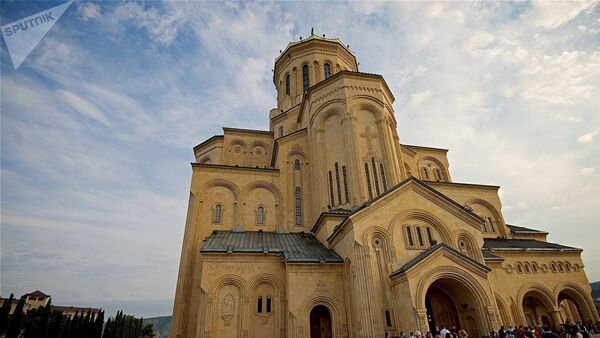 Собор Цминда Самеба — кафедра Католикоса-Патриарха всея Грузии - Sputnik Азербайджан
