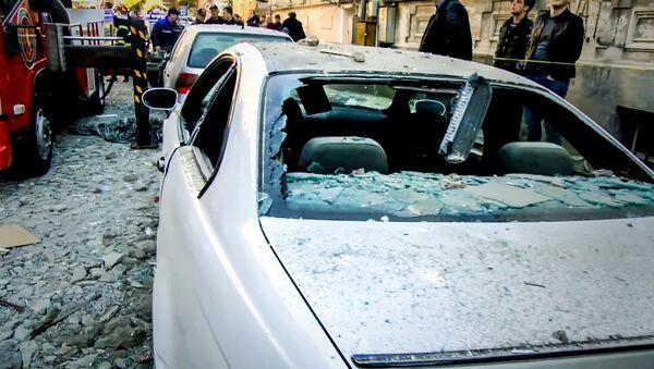 Страшный взрыв в Батуми: разрушенный дом и разбитые машины - Sputnik Азербайджан