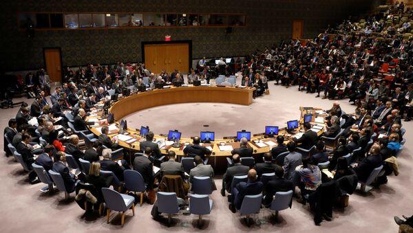 Заседание Совета Безопасности ООН, посвященное ситуации на Ближнем Востоке, Нью-Йорк, 8 декабря 2017 года - Sputnik Азербайджан