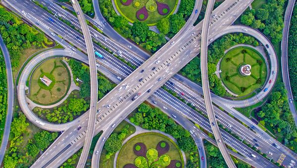 Снимок Cross Bridge Waltz фотографа Guo Ji Hua, финалист конкурса Art of Building photography awards 2017 - Sputnik Азербайджан