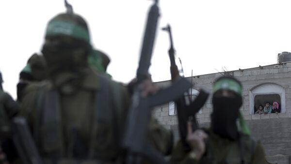 Боевики ХАМАС в Палестине, фото из архива - Sputnik Азербайджан
