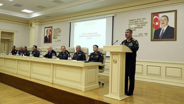 В Министерстве Обороны состоялось расширенное заседание коллегии по итогам года - Sputnik Азербайджан