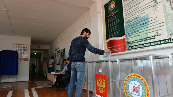Голосование в России, архивное фото - Sputnik Азербайджан