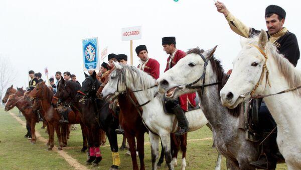 Prezident kuboku uğrunda çövkən milli oyunu - Sputnik Azərbaycan