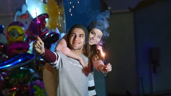 Празднование Нового года в Баку - Sputnik Азербайджан