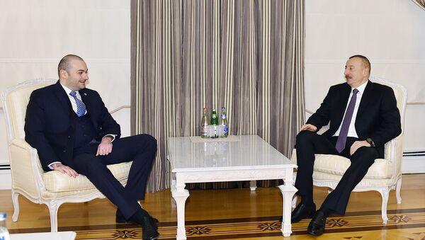 Президент Ильхам Алиев принял министра финансов Грузии - Sputnik Азербайджан