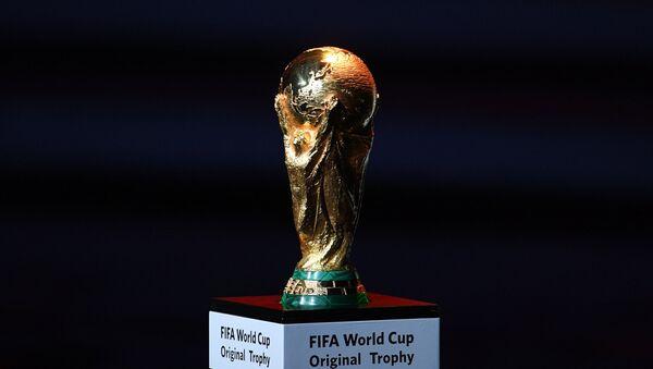 Кубок чемпионата мира по футболу на официальной жеребьевке чемпионата мира по футболу 2018 - Sputnik Азербайджан