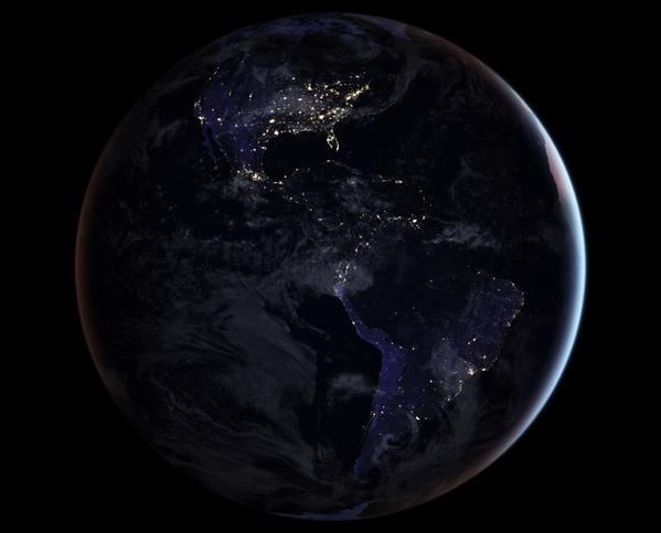 Ночная карта полушария Земли - Sputnik Азербайджан