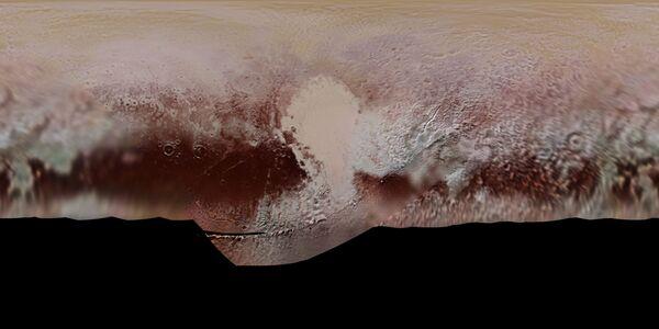 Цветная карта Плутона, подготовленная в НАСА - Sputnik Азербайджан