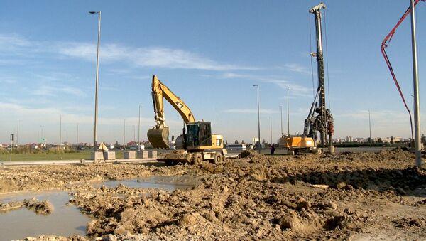 Строительство автомобильного тоннеля на проспекте Гейдара Алиева - Sputnik Азербайджан