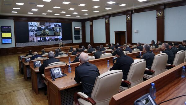 Служебное совещание в Министерстве обороны - Sputnik Азербайджан