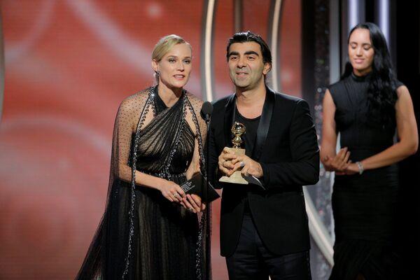 75-я церемония вручения премии Золотой глобус в Лос-Анджелесе - Sputnik Азербайджан