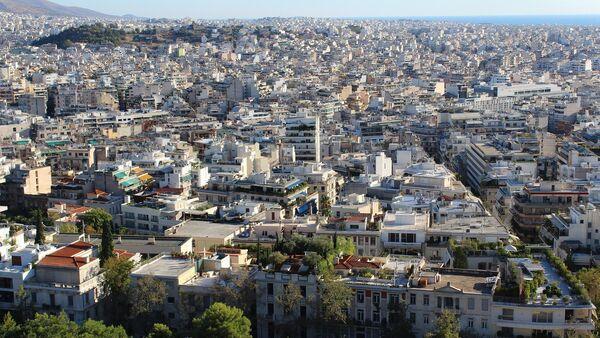 Вид на Афины, фото из архива - Sputnik Азербайджан