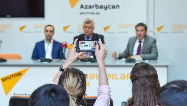 Пресс-конференция посвященная 190-летию Туркманчайского мирного договора - Sputnik Азербайджан