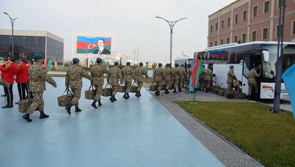 Азербайджанские миротворцы, участвующие в миссии НАТО Решительная поддержка в Афганистане - Sputnik Азербайджан