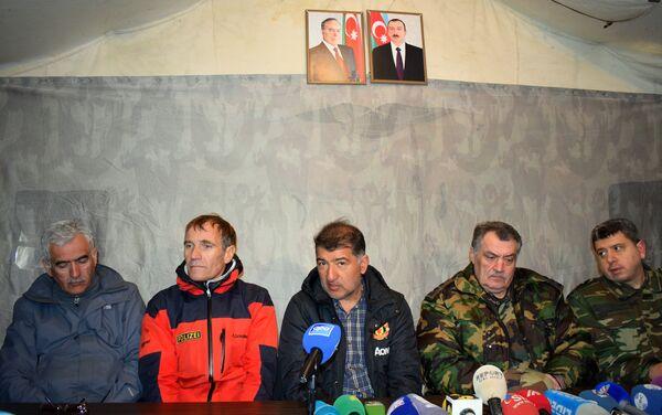 Пресс-конференция в оперативном штабе МЧС - Sputnik Азербайджан
