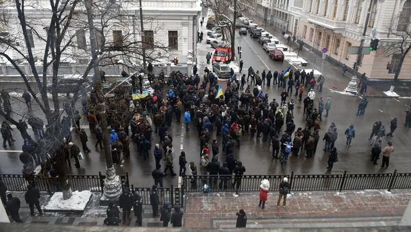 Участники митинга у Министерства внутренних дел Украины, фото из архива - Sputnik Азербайджан