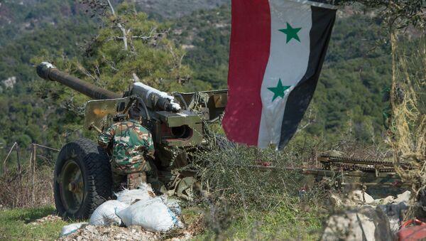 Сирийская армия в провинции Идлиб - Sputnik Азербайджан