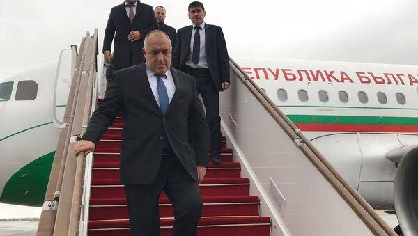 Премьер-министр Болгарии Бойко Борисов прибыл с двухдневным рабочим визитом в Баку. - Sputnik Азербайджан