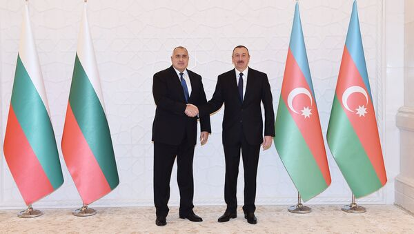 Встреча премьер-министра Болгарии Бойко Борисова с президентом Азербайджана Ильхамом Алиевым, Баку, 15 января 2018 года - Sputnik Азербайджан