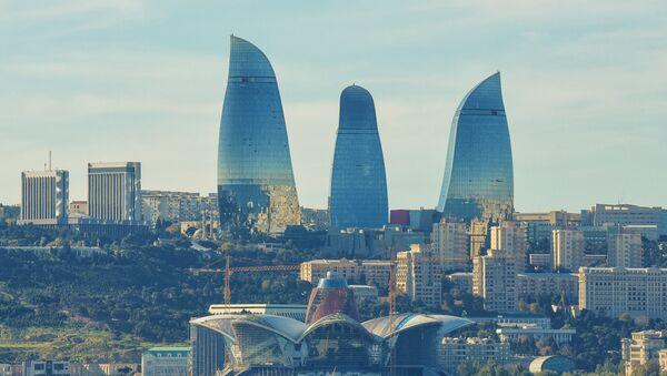 Вид на комплекс зданий Flame Towers в Баку - Sputnik Азербайджан