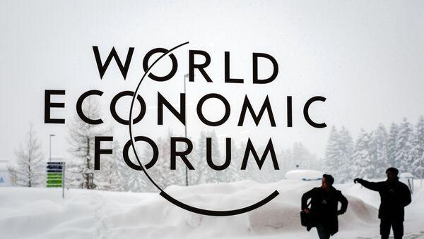 Логотип Всемирного экономического форума - Sputnik Азербайджан