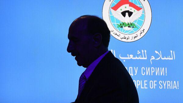 Участник конгресса сирийского национального диалога в Сочи - Sputnik Азербайджан