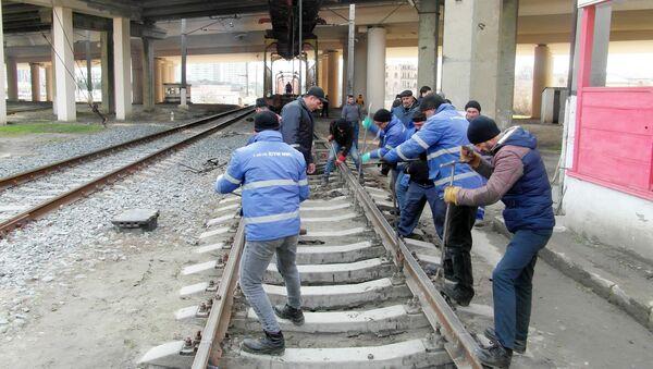 Ремонт окружной железной дороги Баку-Сумгайыт - Sputnik Азербайджан