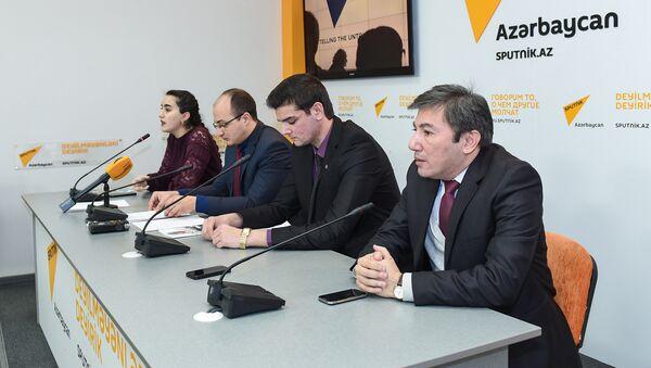 Пресс-конференция посвященная Дню молодежи Азербайджана - Sputnik Азербайджан