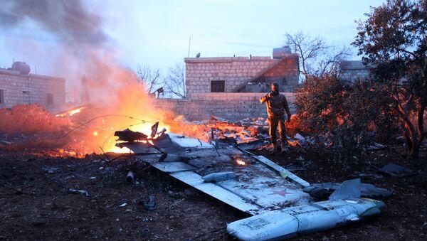 Российский самолет Су-25 сбит в субботу в сирийской провинции Идлиб - Sputnik Азербайджан