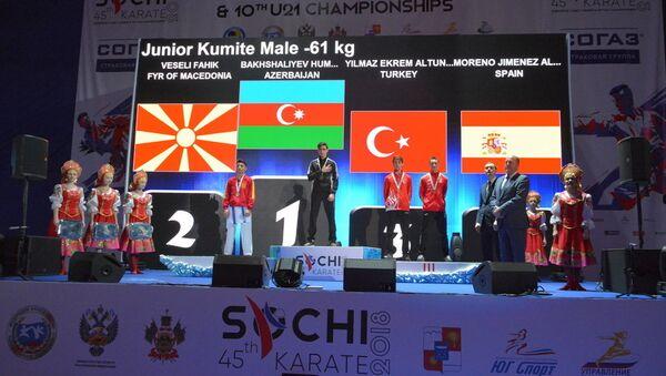 Azərbaycan karateçiləri Yeniyetmə və Gənclərin Avropa çempionatında - Sputnik Azərbaycan