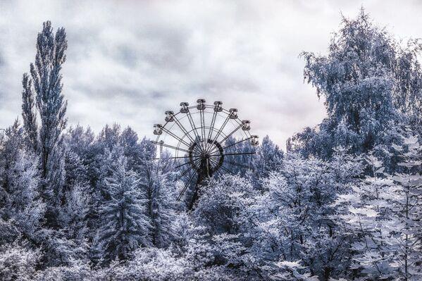 Чертово колесо в парке развлечений, Припять - Sputnik Азербайджан