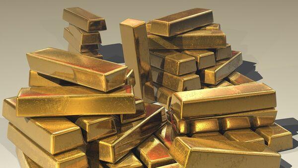 Слитки золота, фото из архива - Sputnik Азербайджан