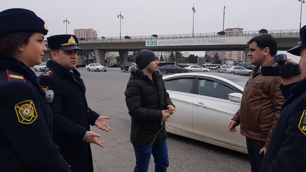 Bakı şəhər DYP piyadalara qarşı reyd keçirib - Sputnik Azərbaycan