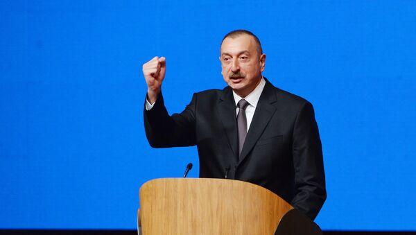Ильхам Алиев выступил с речью на съезде с участием делегатов, представляющих более 700 тысяч членов ПЕА - Sputnik Азербайджан