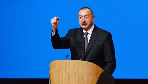 Выступление президента Ильхама Алиева на VI съезде Партии Ени Азербайджан - Sputnik Азербайджан