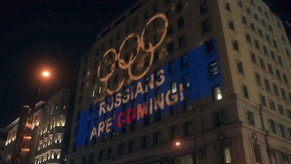 Русское световое шоу для WADA в Монреале - Sputnik Азербайджан