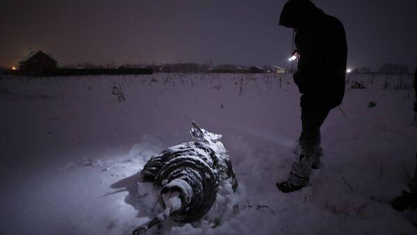Обломки на месте крушения самолета АН-148 - Sputnik Азербайджан