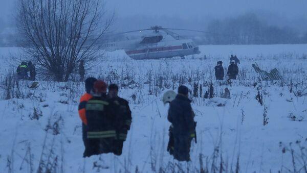 Службы спасения на месте крушения самолета АН-148 - Sputnik Азербайджан