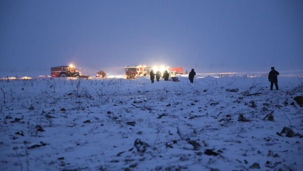 Крушение пассажирского самолета в Московской области - Sputnik Азербайджан