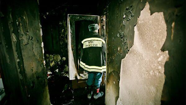 Пожар в Оренбурге - Sputnik Азербайджан