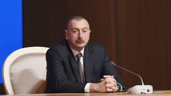 Президент Азербайджанской Республики Ильхам Алиев - Sputnik Азербайджан