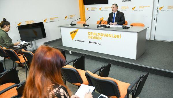 Пресс-конференция на тему актуальных проблем миграционной политики в Азербайджане и их решения в пресс-центре Sputnik Азербайджан - Sputnik Азербайджан