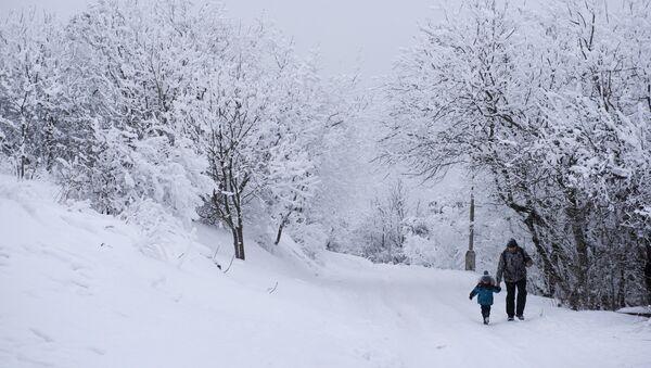 Морозы в России - Sputnik Азербайджан