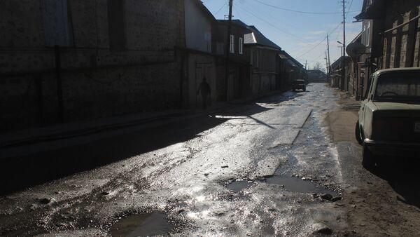 Разбитая дорога, фото из архива - Sputnik Азербайджан