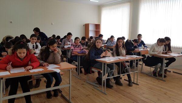 Региональный тур Олимпиады прошел в городе Агстафе - Sputnik Азербайджан