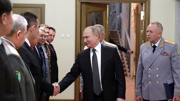 Встреча президента России Владимира Путина с министрами обороны зарубежных стран - Sputnik Азербайджан
