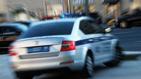 Moskvada polis avtomobili, arxiv şəkli - Sputnik Azərbaycan